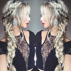Braids on the side look extremely smart. Add to that a crown braid gives you a beautiful romantic look as is obvious here. If you are looking for a hairdo that matches your dress and makeup TerrificTresses.com offers braided hair ideas that are simply fabulous in all settings.