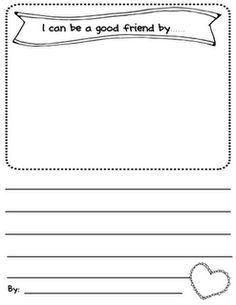 Character Education on Valentines Cut Out Worksheets Kindergarten