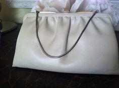 Ande' Label Cream Clutch or Handbag Vintage by EcoBeachDesigns, $18.00