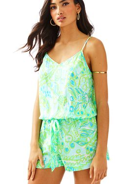 0848b7104e9 Deanna Tank Top Romper - Lilly Pulitzer Boho Swim Suits
