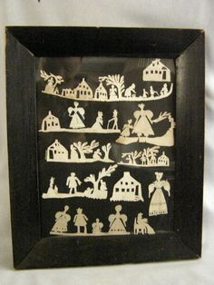 Antique 1835 Folk Art Scherenschnitte Cut Paper Art - with Provenance