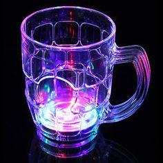 Beer Mugs with Flashing LED Lights! https://glowproducts.com/us/flashingbeermug