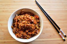 Fried rice recipe  Visit the blog for the recipe  https://thebakedorange.wordpress.com