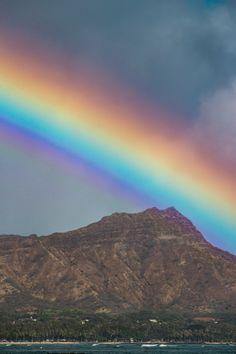 Rainbow Diamond Head by Jackie Fiero