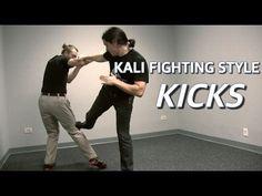 KICKING of Filipino Martial Arts - Kali Fighting Style - YouTube