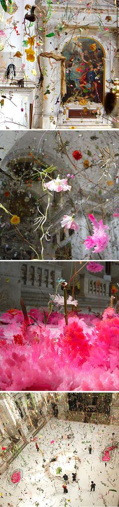 Falling garden. One of the most beautiful installations at the Venice Biennale.