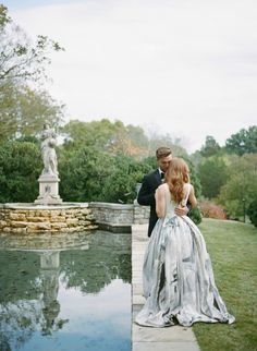 Romantic Southern Wedding Inspiration with a Hi-Lo Wedding Gown   Photos by Archetype Photography
