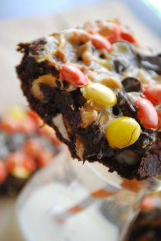 Double chocolate peanut butter bars. Oh my gosh!!