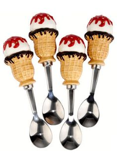 Ice cream will taste twice as nice when eaten with these quirky ice cream cone–topped spoons. No one will be able to resist these tempting utensils, and you'll be able to use them every time you want a scoop of a frosty treat. Waffl  - WomansDay.com