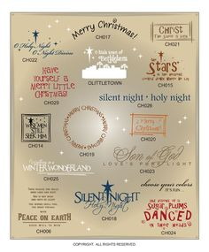 DIGITAL DOWNLOAD ..... Christmas vinyl wall sayings for craft cutters with AI, EPS, SVG, and GSD files @ My Vinyl Designer #holidayvectors