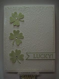 A bit of glitter around the edges really jazzes up the card. Lynda's Quiet Time: Happy St Patrick's Day (Apr'13)