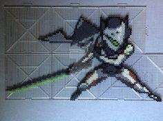 Overwatch Genji perler beads by TehMorrison