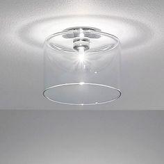AXO Light Grey Spillray Large Flushmount Light by Manuel Vivian Ceiling Canopy, Ceiling Lights, Fireflies In A Jar, Jar Lights, Flush Mount Ceiling, Modern Lighting, House Lighting, Chrome Plating, Glass Shades