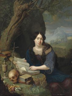 Pieter Leermans Formerly attributed to Gerrit Dou Formerly attributed to Nicolaas Verkolje Portrait of an unknown lady portrayed as Mary Magdalene; possibly Maria van Oosterwijk Date Classic Art, Dutch Painters, Mary Magdalene, Painting, Female Art, Gerrit Dou, Christian Art, Art History, Sacred Art