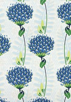 Tiverton by Thibaut - Front only with welt - 26x26 / Blue/Green