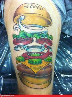 Cheeseburger tattoo