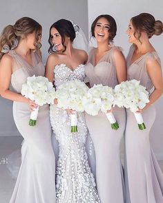Jul 2019 - Simple Tulle Bridesmaid Dresses,Long Mermaid Bridesmaid Dress,Free pieces · MychicDress · Online Store Powered by Storenvy Cheap Wedding Guest Dresses, Wedding Gowns, Bridal Gown, Gift Wedding, Bouquet Wedding, Wedding Things, Fitted Bridesmaid Dresses, Bridesmaids In Different Dresses, Beautiful Bridesmaid Dresses