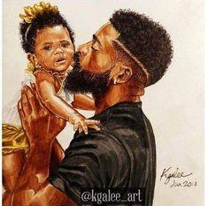 Art Black Love, Black Girl Art, Art Girl, Black Art Painting, Black Artwork, Art Amour, Afrique Art, Natural Hair Art, Black Fathers