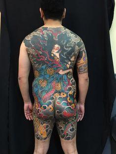 Full japanese back. Done by Hugo Hab @ Good Times Tattoo Parlour, Argentina - Imgur