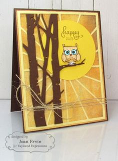 Happy Days Card by Joan Ervin #Cardmaking, #JustBecause, #CuttingPlates