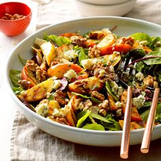 Grilled Apple Tossed Salad Recipe from Taste of Home