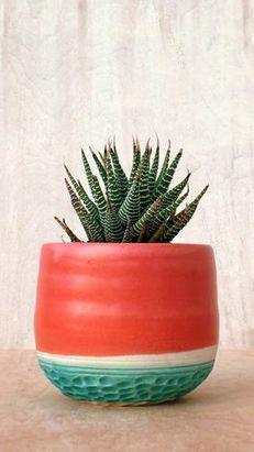 Southwest Boho planter http://scoutmob.com/p/Coral-Line-Stoneware-Planter?cid=cam201502&pid=E522&referrer=smshpblg&signup=0&short_code=UCHi&affl=UCHi