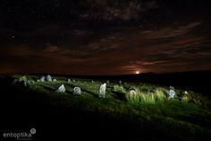 Moonrise at Brisworthy Moon Rise, Dartmoor, Light Painting, Northern Lights, Movie Posters, Devon, Travel, Dna, Stones