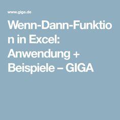 Wenn-Dann-Funktion in Excel: Anwendung + Beispiele – GIGA