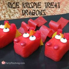 Rice Krispie Dragon Treats for Chinese Lunar New Year easy to make tutorial recipe celebration lucky ideas for dessert kid friendly food that's fun