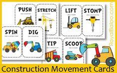 Movement cards--these are great for kids who need to MOVE.