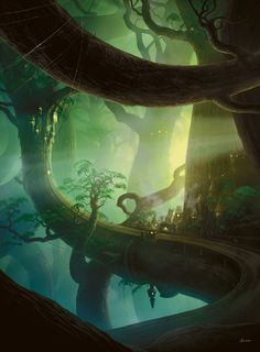 Basic Forest artwork from Magic Origins.