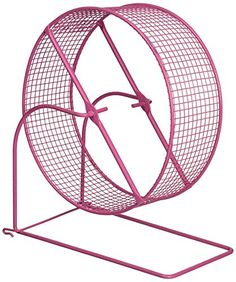 Wire mesh hamster/gerbil wheel toy design prevents feet and tails from getting caught while pets are running Great for providing exercise inside or outside of the cage The wheel can also be securely hung on mesh cage sides