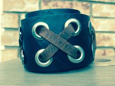 Mens/Teens/Boys Leather Adjustable Bracelet by PureEssenceJewelry