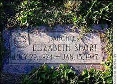 "Elizabeth Short, ""the Black Dahlia"", Mountain View Cemetery, Oakland, CA"