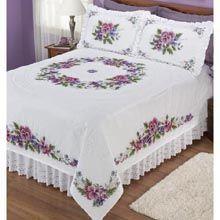 Eski kanaviceleri yatak örtüsü
