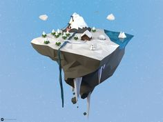 Low Poly Island Winter by maty241 on DeviantArt