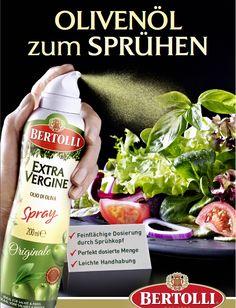 Bertolli Olivenöl-Spray: *Extra Vergine Originale (für kalte Speisen)