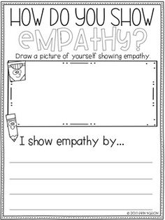 Classroom Guidance Lesson - Empathy by Dr Nation's Education Teaching Empathy, Teaching Social Skills, Elementary School Counselor, School Counseling, Career Counseling, Counseling Activities, Counseling Worksheets, Therapy Worksheets, Class Activities