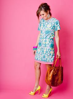 Summer ikat dress omg i love everything about this Summer Fashion Outfits, Cute Summer Outfits, Spring Summer Fashion, Summer Clothes, Summer Chic, Style Summer, Summer Wear, Spring Outfits, Style Fashion
