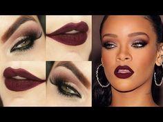 Rihanna Makeup Tutorial - Maquiagem Vinho Diva - YouTube