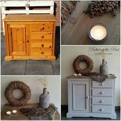 Diy Furniture Flip, Custom Furniture, Furniture Decor, New Zealand Houses, Retro Lamp, Chinoiserie Chic, Grey Dresser, New Home Designs, Painting On Wood