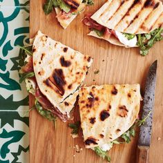 """17.7k Likes, 67 Comments - Food & Wine (@foodandwine) on Instagram: """"Piadina is a pan-grilled sandwich made with a quick baking-powder flatbread—but you could use a…"""""""