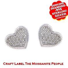 "1/7 Ct Genuine Diamond 14K Gold Heart Shape Stud Earrings ""Mother\'s Day Gift"". Starting at $53"
