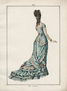The Queen v. 50, plate 65 1876 vintage fashion plate