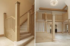 Oak staircase is panelling too precise for ours