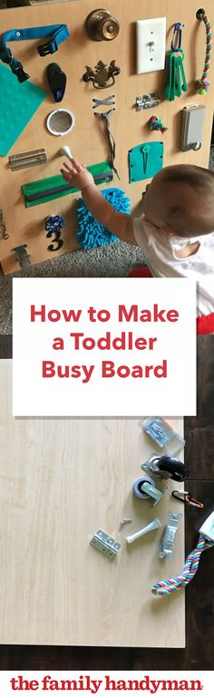 Build a Toddler Busy Board with Items You Already Have