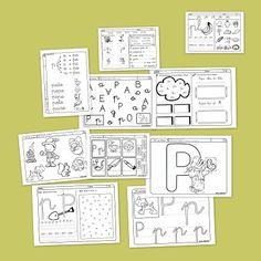 Lectoescritura y vocabulario con la letra P
