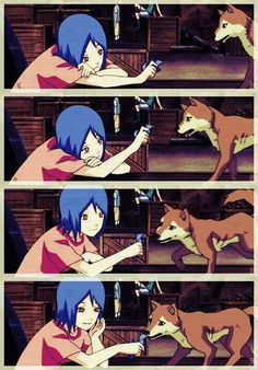 Konan playing with Chibi. #naruto