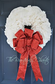 Beautifully Chaotic: Coffee Filter Wreath