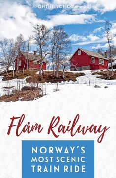 The Flåm Railway – or Flåmsbana – is Norway's most scenic train journey, running through the mountains from Myrdal to Flåm on the edge of the fjords